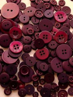 Cranberry-coloured Buttons ....