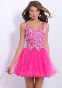 V Neck A Line Beaded Crystal Homecoming Dresses 2014 Charming Tulle Short Prom Dress Hot Pink Cocktail dresses Sweet 16 Dresses, Pretty Dresses, Beautiful Dresses, Short Dresses, Homecoming Dresses 2014, Prom Dresses For Teens, Grad Dresses, Wedding Dresses, Blush Prom