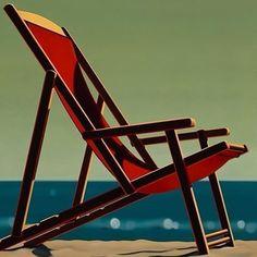 "R. Kenton Nelson   ""Folding Chair"""