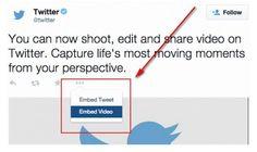 Ahora los vídeos alojados en Twitter se pueden embeber en sitios web y blogs
