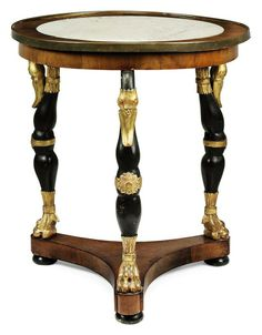 A GERMAN BRASS-MOUNTED MAHOGANY CENTRE TABLE -  FIRST HALF 19TH CENTURY Fine Furniture, Wooden Furniture, Antique Furniture, Furniture Design, Coffe Table, Empire Style, Elegant Table, Center Table, Abandoned Houses