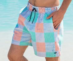 GYang Mens Beach Shorts Bahamas Flag Summer Printed Swim Breathable Quick-Drying Shorts Swim Trunks Boardshorts
