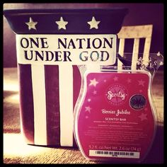 Scentsy ~ June 2014 Special ~ One Nation Warmer & Berries Jubilee Scent  // Order June 1st at ninagonzales.scentsy.us #PutUrNoseNmyBiz