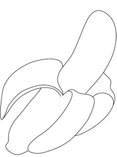 Sweet And Healthy Banana Fruit Coloring Pages