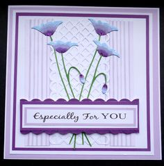 S017 - Hand made Birthday Card using Memory Box Prim Poppy die and Martha Stewart punches
