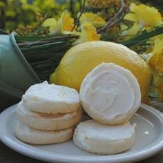 Lemon Meltaways - These frosted lemon cookies are a delicious refrigerator cookie, and they are quick and easy to make. Lemon Desserts, Lemon Recipes, Cookie Desserts, My Recipes, Sweet Recipes, Cookie Recipes, Delicious Desserts, Just Desserts, Yummy Treats