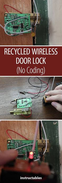 Recycling radio door lock (without coding) - Electronics Projects, Diy Electronics, Bmw Isetta, Diy Tech, Cool Tech, Pi Projects, Science Projects, Arduino Wireless, Rc Autos