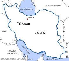 Carte Ghoum Iran