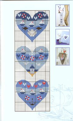 Cross-stitch Nautical Hearts, part 2.. color chart on part 1...    Gallery.ru / Фото #5 - 763 - Yra3raza