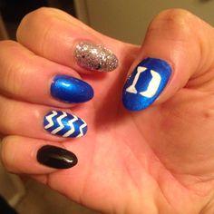 Duke blue devils nail art nails pinterest blue devil and duke blue devils love how they came out prinsesfo Choice Image