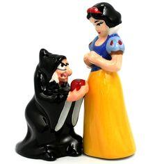 Snow White & Evil Queen - Salt & Pepper Shakers from neatorama.com