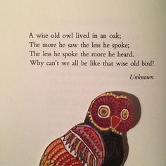 Lesson from owls #getwise2013