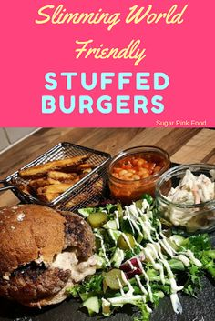 Cheese, Bacon and Onion Stuffed Burgers with BBQ Sauce. Syn free Slimming World friendly dinner. Slimming World Quick Meals, Slimming World Beef Recipes, Slimming World Turkey Burgers, Healthy Chicken Recipes, Cooking Recipes, Chicken Spices, Chicken Pasta, Bbq Chicken, Low Fat Dinner Recipes