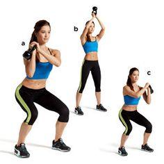Squat Flip, lunge pass, push press, side row plank