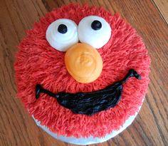 Elmo 1st birthday smash cake