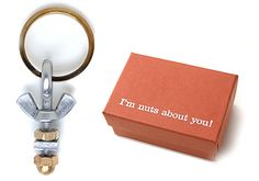I'm Nuts About You Key Ring - Cute Valentine's Day idea for guys!