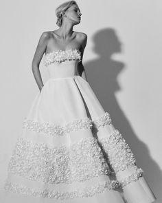 Carolina Herrera Spring 2018 Wedding Dress Collection   Martha Stewart Weddings – Strapless ball gown