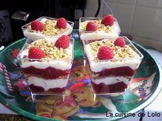 La cuisine de Lolo: Verrines de tiramisu aux framboises et spéculoos
