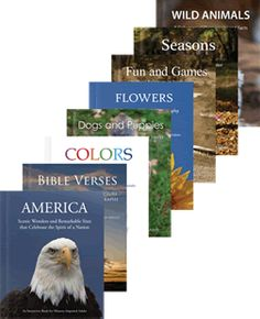 Books for activity programs and 1:1's.  Great for adults with Alzheimer's to use at home or in memory care.
