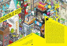 Coursework: Wired Magazine Spread (Illustration: eBoy) on Behance Invisible Cities, Magazine Spreads, Layout Inspiration, Magazine Design, Layout Design, Behance, Wire, Illustration, Image