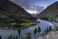 Ghizer River in Gilgit-Baltistan ,Pakistan