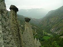 Euseigne, Switzerland - interesting rock formations (hoo doos, fairy chimneys, pyramids...)