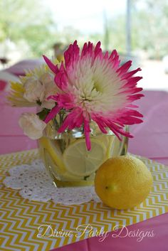 Pink Lemonade Birthday Party Ideas | Photo 2 of 19 | Catch My Party