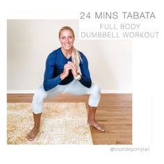 """JESS ALLEN, NSCA-CSCS on Instagram: """"these tabata workouts fly by before I even realize we are at the end. . . tabata = 20 secs of work followed by 10 secs of rest x 8 for 4…"""" Full Body Dumbbell Workout, Tabata Workouts, White Jeans, Rest, Instagram, Fashion, Moda, Fashion Styles, Fashion Illustrations"""