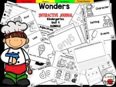 Coral's Corner has heard your feedback and is happy to present an Interactive Journal MEGA BUNDLE for Kindergarten McGraw Hill Wonders Unit 4!This 48 page Kindergarten interactive journal is aligned to Common Core and to the McGraw Hill Wonders series for Unit 4!.