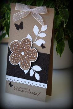 Carte anniversaire fleur
