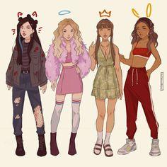 Dope Cartoons, Dope Cartoon Art, Cartoon Art Styles, Character Inspiration, Character Art, Character Design, Design Inspiration, Beautiful Drawings, Anime Art Girl