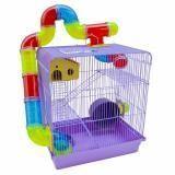 Gaiola Para Hamster Roedores Jel Plast Super Luxo 3 Andares Lilas