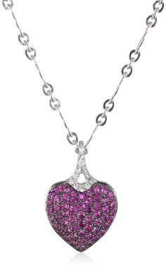 Badgley Mischka Fine Jewelry White Diamonds Pink Sapphire Pave Heart Pendant Necklace Badgley Mischka Fine Jewelry,http://www.amazon.com/dp/B0095S1TLW/ref=cm_sw_r_pi_dp_vD0ktb0V62C7GEV4
