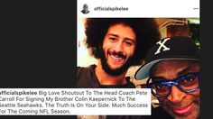 Did Spike Lee just break news that Colin Kaepernick signed with the Seahawks?