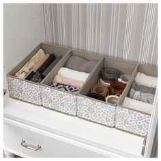 IKEA - STORSTABBE, Box, beige, Helps you to store and organize small things in your wardrobe or chest of drawers. Combines with other products in the STORSTABBE series. Dresser Drawer Organization, Medicine Organization, Small Space Organization, Home Organization Hacks, Dresser Drawers, Closet Organization, Organizing Clothes Drawers, Ikea Drawer Organizer, Dorm Room Storage