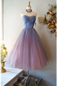 Strapless A-line Vintage Handmade Elegant Homecoming Dresses K524
