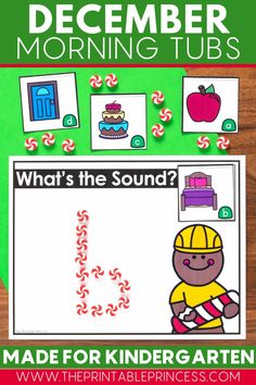 This easy prep gingerbread themed resource includes 21 interactive and hands on literacy and math activities that are perfect for Kindergarteners during the month of December. This resource works great as a compliment your gingerbread unit, or just for fun. They make perfect kindergarten morning tubs.