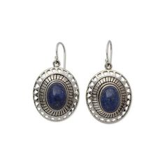 NOVICA Lapis Lazuli Earrings from India Silver Jewelry Collection ($58) ❤ liked on Polyvore featuring jewelry, earrings, dangle, lapis lazuli, tribal jewellery, silver jewellery, silver dangle earrings, tribal earrings and silver earrings