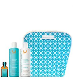 Moroccanoil The Smooth Collection Set Neceser: Shampoo (250ml) + Conditioner (250ml) + Treatment (25ml)