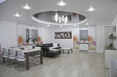 ceiling decoration for dining room - Internal Home Design Minimalist Dining Room, Minimalist House Design, Funky Bedroom, Bedroom Decor, Home Design, Upholstered Wall Panels, Textured Wall Panels, Types Of Ceilings, Dining Room Paint Colors