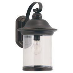 Sea Gull Lighting 88082-71 Hermitage 1 Light 15 inch Antique Bronze Outdoor Wall Lantern
