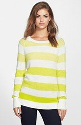 Two by Vince Camuto Marled Ombré Stripe Cotton Blend Sweater