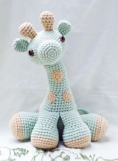 large amigurumi giraffe by darknailbunny