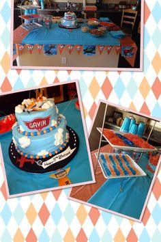 Gavin's third birthday! Dusty from Disney Planes theme!! ❤️✈️