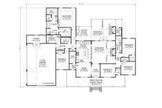 Farmhouse Style House Plan - 5 Beds 3.5 Baths 2705 Sq/Ft Plan #1074-5 - Houseplans.com Farmhouse Design, Farmhouse Style, Building Department, Roof Types, Room Dimensions, Home Builders, Baths, House Plans