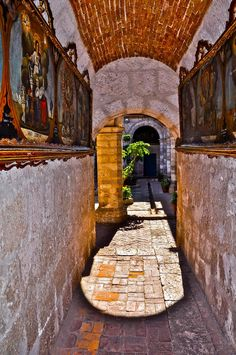 Old Passage in Arequipa, Peru This world is really awesome. The woman who make our chocolate think you're awesome, too. Try some Peruvian Chocolate today! http://www.amazon.com/gp/product/B00725K254