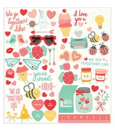 We Go Together Cardstock Stickers 6