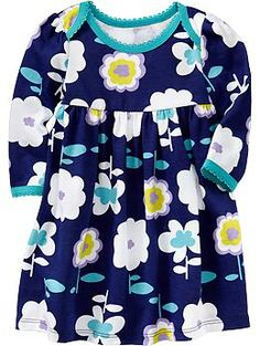 Patterned Jersey Dresses for Baby (Old Navy 0-24m)