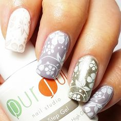 I love all three of these colors working together!  Colors: Rainy Sky, French White,  and Own It (silver). ❗ Gel polish by +Purjoi Nail Studio. ○ ○  #purjoinailart #purjoinailstudio #gelpolishreview #gelpolish #gelnailart #gels #gelnailspromote #gelpolishpromote #nailpromote #nailartgallery #purjoionestepgel #nails2inspire #onesteppolish #nailfamous #nailprodigy #nailitdaily #purjoifrenchwhite #nailpromagazine #nails #nailpolish #allinonegelpolish #allinonegel #gelnails #nails #nailpolish…