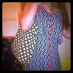 Adorable Polka Dot Beach Bag!! Brown & Tan beach type bag. Worn a bit but perfect for throwing your sunscreen, towel, and flip flops in for a day at the beach or pool!! Open to reasonable offers!!  American Eagle Outfitters Bags Totes